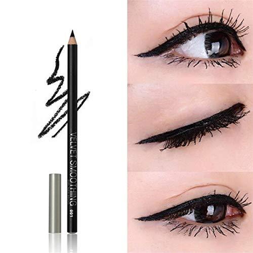 Kit de crayon de maquillage professionnel imperméable maquillage crayon à lèvres (Color : Black.)