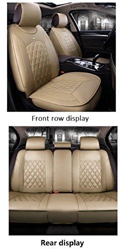 EverFabulous Cubiertas de Asiento de Auto de Cuero de la PU de Lujo Cubren el Conjunto Universal de