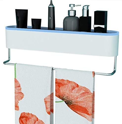 WGZ - Estante de ducha para baño, baño, cocina, lavabo, toallero de almacenamiento, sin agujeros, simplicidad (color azul).
