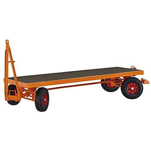 Industrieanhänger, 4-Rad-Achsschenkellenkung, Lade fläche LxB 3000x1500 mm, Traglast 3000 kg, Vollgum