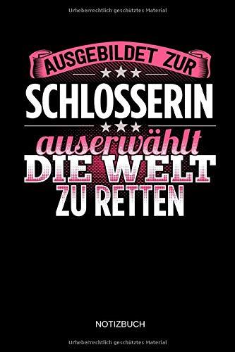 Ausgebildet zur Schlosserin - Notizbuch: Lustiges Schlosser Notizbuch mit Punktraster. Schlosser Zubehör & Schlosser Geschenk Idee.