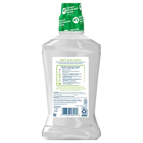 Tom's of Maine Natural Wicked Fresh! Alcohol-Free Mouthwash, Cool Mountain Mint, 16 oz. 6-Pack