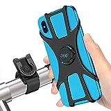 SYOSIN Soporte Movil Bici, 360° Rotación Soporte Movil Moto Bicicleta, Desmontable Anti Vibración Porta Telefono Motocicleta Montaña para iPhone, Samsung y Otro 4-6.5' Móvil