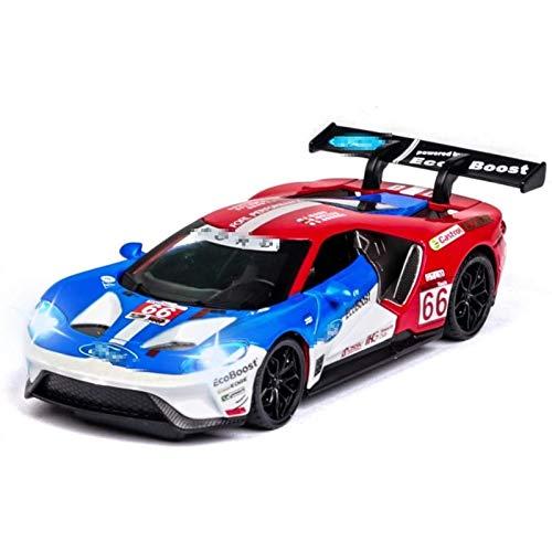 Modelo Coche 1:32 para Ford V8 Carrera de carreras Coche de juguete Metal Toy Diecasts Modelo Simulación Tirar de la espalda Sonido Luz Luz Juguetes Para Los Niños Para Niños Regalo (Color: Rojo) peng