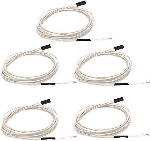 DollaTek Termistore 5TC NTC 3950 100K con Cablaggio da 1 Metro e Testina Femmina per estrusore Stampante RepRap 3D Letto riscaldato preriscaldato o Hot End