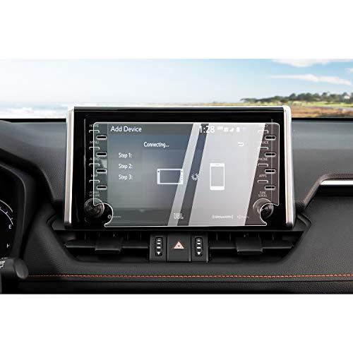 CDEFG Auto Navigation Glas Schutzfolie für Toyota RAV4 2019 9H Kratzfest Anti-Blaues Licht GPS Transparent Displayschutzfolie Navi Folie Zubehör (8 Zoll)