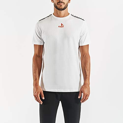 Kappa Corezo Courir Camiseta, Hombre, Blanco, XL