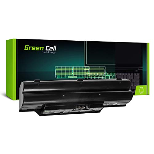 Green Cell® Standard Serie FPCBP250 Batería para Fujitsu LifeBook A530 A531 AH530 AH531 Ordenador (6 Celdas 4400mAh 10.8V Negro)