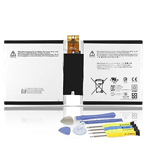 K KYUER 27.5Wh G3HTA004H Tablet Batteria per Microsoft Surface Laptop 3 RT3 1645 LCD Surface 3 LTE 1657 10.8  2-in-1 Detachable G3HTA003H G3HTA007H Notebook Replacement Tablet Battery 3.78V 7270mAh