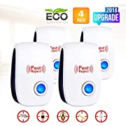 Ultrasonic Pest Repeller-2018 New Electronic Mouse Pest Repellent Plug in Indoor Pest Control Mosquito Repellent for Roach, Spider, Ant, Rodent,Bedbugs, Fly, No Trap, Sprayer,Baits&Poison