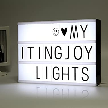 ITingjoy Free Combination Cinematic Light Box with Letters and LED Light A4 Size