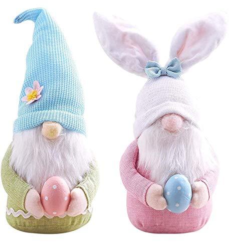 KTYX 2 PCS Easter GNOME Plüschdekorationen - Handgemachte Handgefertigte Skandinavische Tomtes Valentinstagsgeschenke für Frauen/Männer - Puppen Soft Plush Dwarfs Spring Collectible