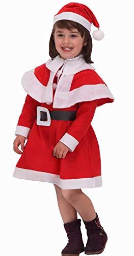 Atosa-69206 Déguisement de Noël pour fille Rouge 3-4 ans (69206)