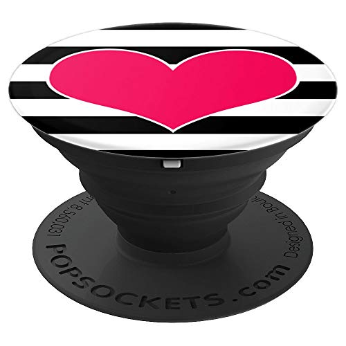 XOXO Love Pink Heart Gifts For Girls Valentine's Pink Heart PopSockets Grip and Stand for Phones and Tablets