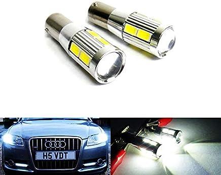 2 bombillas LED de luz blanca 435 H21W BAY9S CREE LED para luz de día inversa