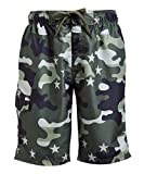Kanu Surf Men's Legacy Swim Trunks (Regular & Extended Sizes), Camo Flag Army Green, Small