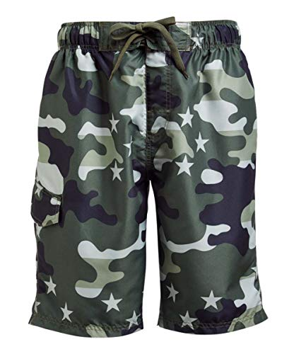 Kanu Surf Herren Legacy Swim Trunks (Regular & Extended Sizes) Badehose, Camouflage-Fahne, Armeegrün, Small
