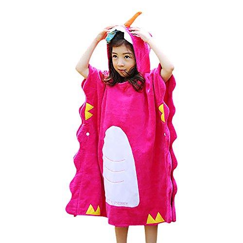 Poncho con capucha para niños, 100% algodón, transpirable