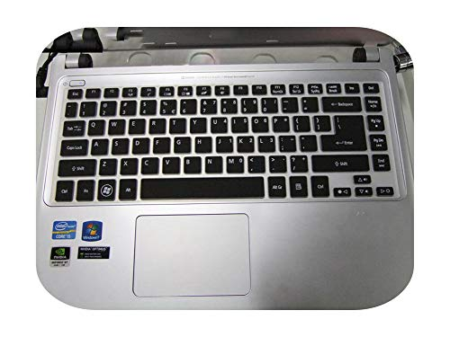 Keyboard For Acer R7 571G E1 472G E1 422G E1 432G E1 410G V5 452G V5 431 E5 471G E5 421G V3 772 G Nv47 Nv49 Silicone Keyboard Skin Cover-Black-