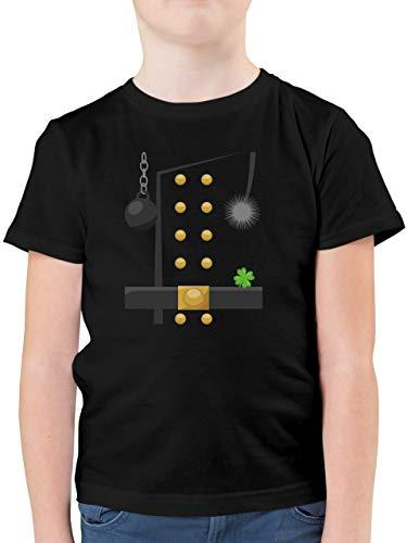 Karneval & Fasching Kinder - Schornsteinfeger Kostüm - 128 (7/8 Jahre) - Schwarz - Kinderkarneval - F130K - Kinder Tshirts und T-Shirt für Jungen
