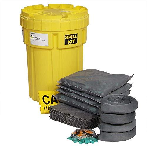 SpillTech Universal Overpack Salvage Drum Spill Kit, 30 Gallon, 47 Pieces (SPKU-30)