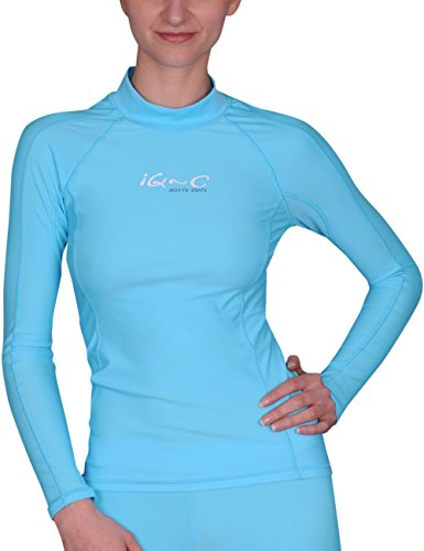 iQ-Company Damen UV Kleidung 300 Shirt Slim Fit Long Sleeve, Turquoise (Watersport Long Sleeve), XS
