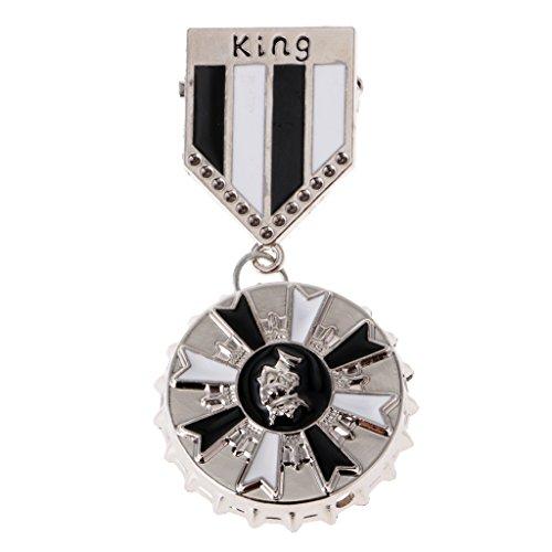 Harilla Medalla Uniforme Rey Broche Streampunk Broches Góticos