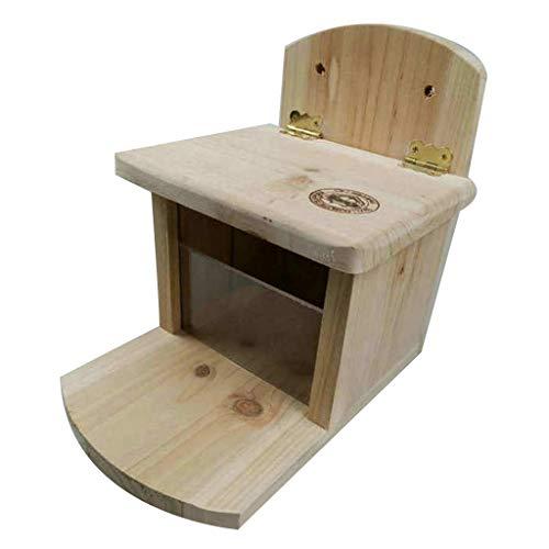 KJ-KUIJHFF Futterhaus für Hamster, Eichhörnchen, Chinchilla, Holz, Futterspender für Futterspender, Plattform, Käfigdekoration, Haustierbedarf