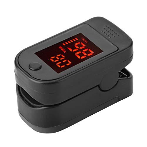 usmley Pulsossimetro da Polso,Display A OLED Pulsossimetro da Dito in 2 Direzioni,misuratore di Frequenza Cardiaca per Ossigeno nel Sangue,Attrezzi Fitness(57(L)×31(W)×30.5(H) mm,Nero)