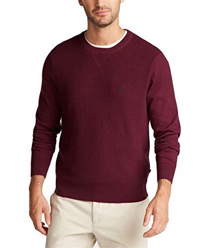 Nautica Men's Navtech Crewneck Sweater, Royal Burgundy, Large