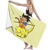 FSTGFFST Dragon Ball Z Goku Toallas de playa ultra absorbentes toalla de baño de microfibra para hombres y mujeres niños