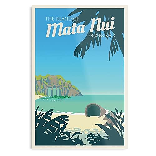 Generico Tropical Bionicle Vector NUI Travel Matanui MATA Island Design e stampa artistica, poster decorativo da parete