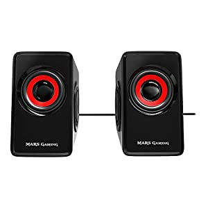 Mars Gaming MS1, altavoces 10W, subwoofer, Jack 3.5mm, Pc/Mac/smartphone/tablet