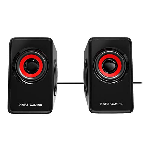 Mars Gaming MS1, altavoces 10W, subwoofer, Jack 3.5mm,...