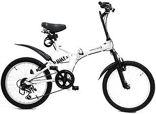 折りたたみマウンテンバイク MTB 折りたたみ自転車 【AJ-01N】 20インチ シマノ外装6段ギア フルサスペンション 街乗り 通勤 通学