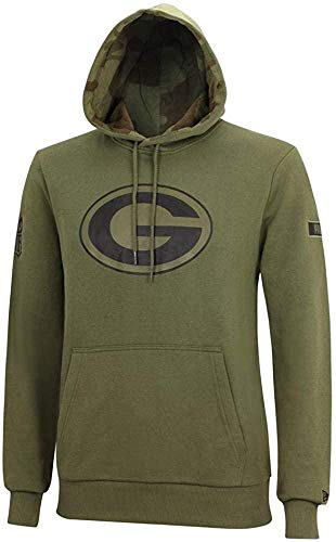 New Era NFL Camo Large Print Hoody Herren Green Bay Packers Khaki, Größe:L