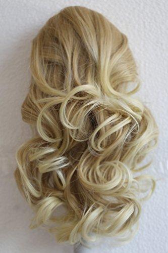 PRETTYSHOP 30cm Haarteil Zopf Pferdeschwanz Haarverlängerung Voluminös Gewellt Blond Mix PH208