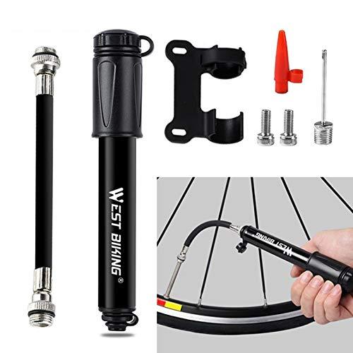 Mini Fahrradpumpe, 120 PSI Tragbare Luftpumpe für Presta und Schrader Ventil Hoher Druck Rahmenpumpe Handpumpe für Mountainbike, Rennrad, Hybridfahrräder, Kinderfahrrad, Basketbälle