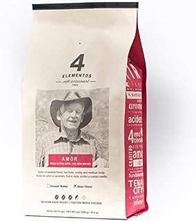 4 Elementos Amor Specialty Coffee, Colombian Single-Origin, Whole Bean, 2.2 lb (35.2 oz) bag