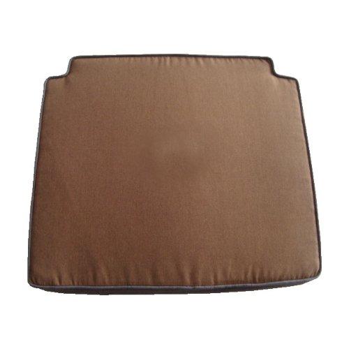 Ambientehome 62927 Galette de Chaise réversible Marron/Gris 50 x 57 x 5 cm