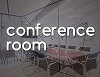 会議室デカールオフィスロゴビニールステッカー会社会議ビジネスドア壁窓デカール接着剤57x17cm
