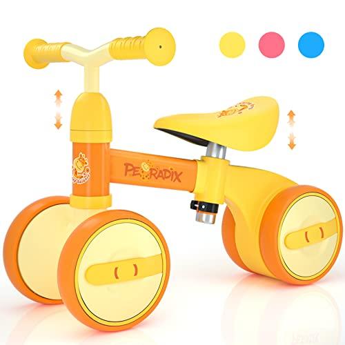 Peradix Bicicletta Senza Pedali   Bicicletta Equilibrio Bambino 1 Anno   Sella Regolabile Bici Senza Pedali   Triciclo Bambini Regalo Bambino 1 Anno Interno ed Esterno   Prima Bici Regalo (10-36 Mesi)