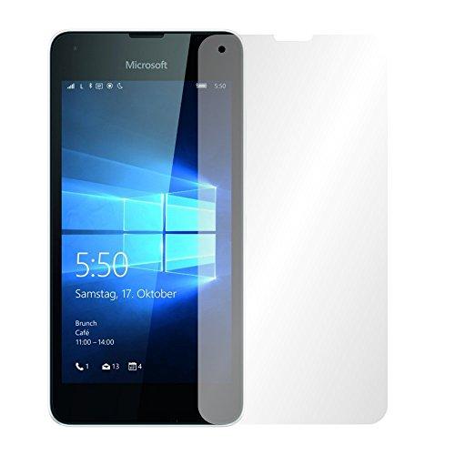 Slabo 2 x Bildschirmfolie für Microsoft Lumia 550 Bildschirmschutzfolie Zubehör Crystal Clear KLAR