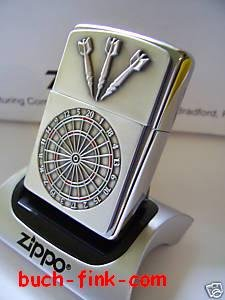 Zippo Feuerzeug  Dartboard + Jetflame-Gaseinsatz