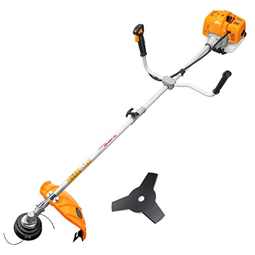 SALEM MASTER 51.7CC Weed Eater Gas Powered String Trimmer Straight Shaft 2 Cycle Gasoline Powered Weed Wacker Brush Cutter G520M