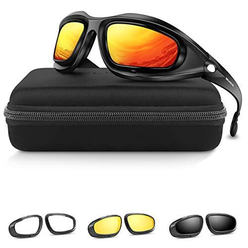 BELINOUS Polarized Moto Tactical Glasses