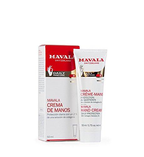 Mavala Crema de Manos Hidrante Protección Diaria con Colágeno | Formulada para Manos Secas o Dañadas, 50 ml