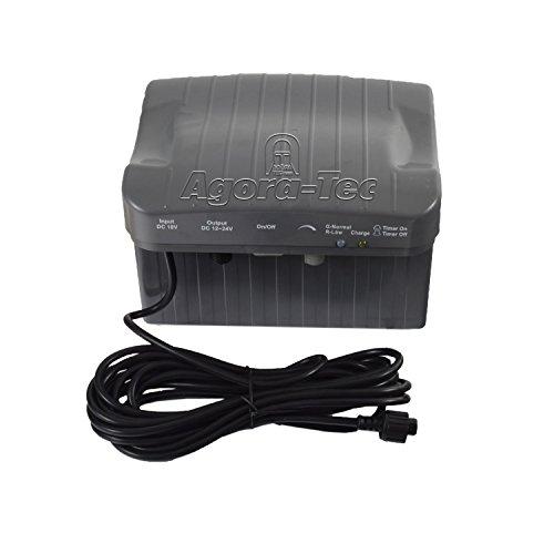 Agora-Tec® at-Steuerbox-Akku-Solar 20W-BL für Solar-Teich- und Bachlauf-Set AT-20 BL