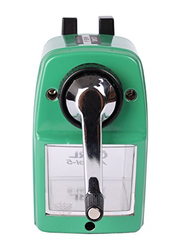 CARL Angel 5 Manual Pencil Sharpener Heavy Duty but Quiet for Office and Home Desks School Classroom,Green Photo #8