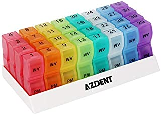 AZDENT Monthly Pill Organizer Boxes 31 Days Pill Case Organizers 2 Times a Day Pill Container Dispenser